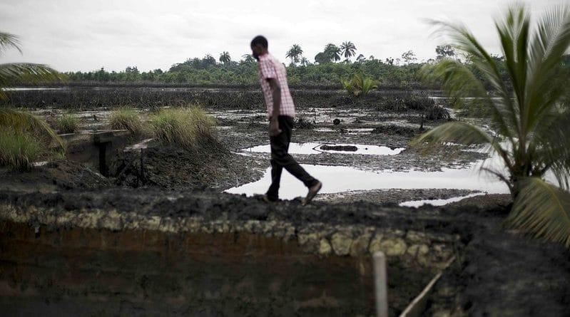 Kegbara- dere community oil spill, Ogoniland, Nigeria