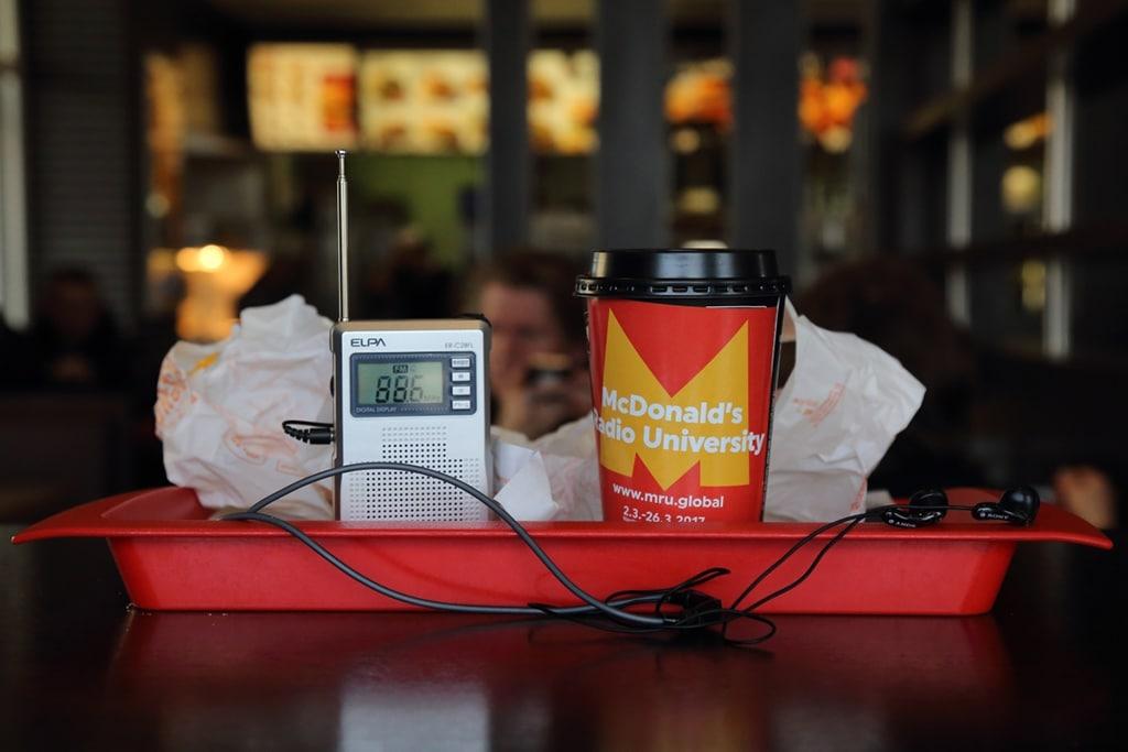 McDonald's Radio University, progetto ideato da Akira Takayama. Foto di Masahiro Hasunuma.
