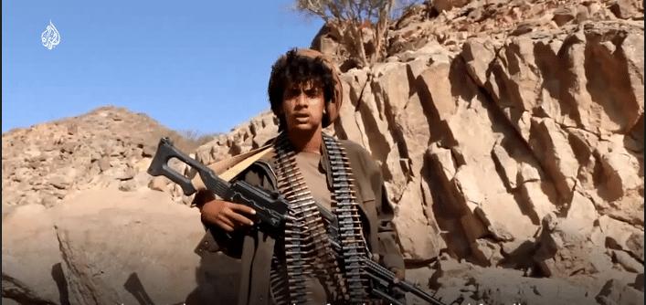 Ragazzo soldato in Yemen - Da Video di Al Jazeera News