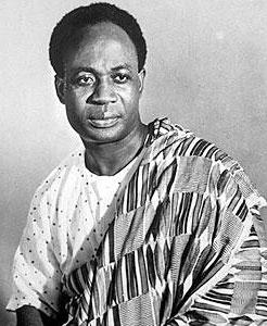 Kwame Nkrumah, primo presidente del Ghana. Foto su licenza CC tratta da Wikipedia.