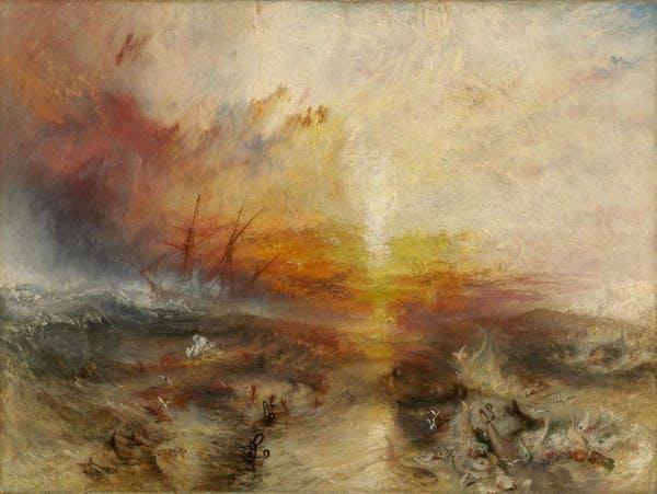 Il pittore William Turner mette in scena la nave negriera durante il massacro della Zong. Wikimedia in licenza CC