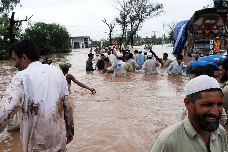 Inondazione in Pakistan, immagine dell'utente Flickr IRIN Photos su licenza CC