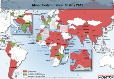 Contaminazione di mine nel mondo al 2019