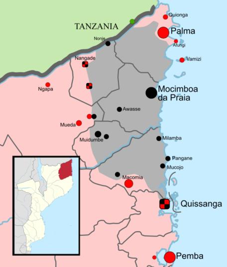 Mappa delle rivolte a Cabo Delgado